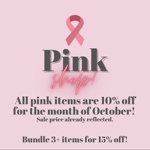 Think Pink in October 💗 !